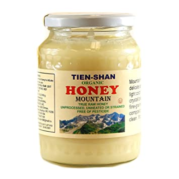 Tien-Shan Organic Mountain and Flower Honey Unprocessed Unheated or strained free of pesticide (