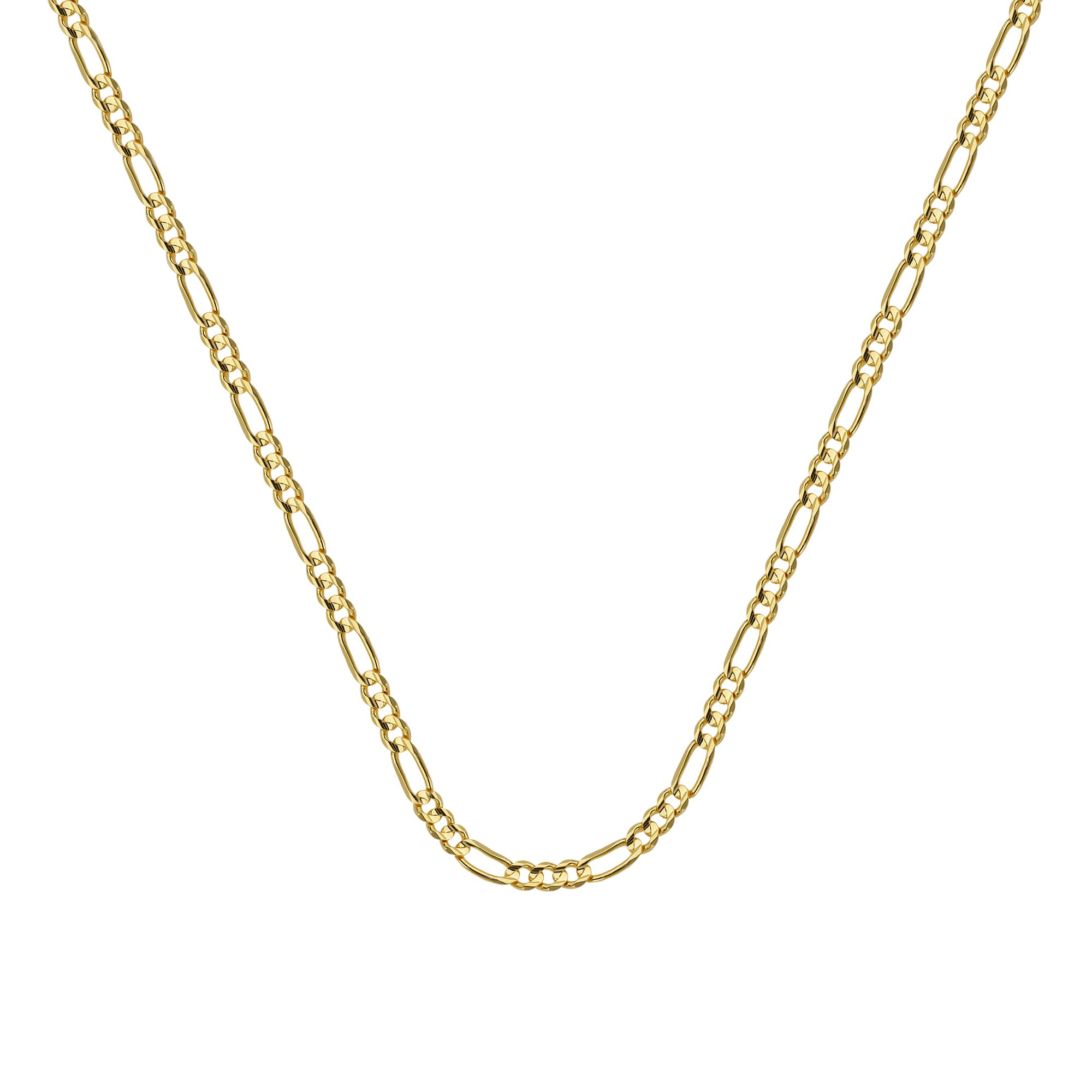 FIGARO CHAIN , 14KT GOLD FIGARO CHAIN / 24'' INCHES LONG
