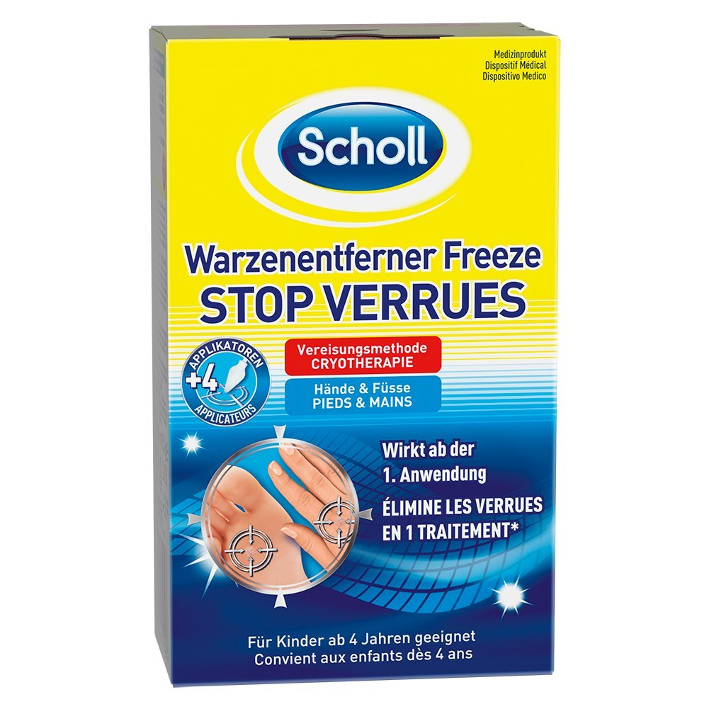 Scholl Warzenentferner Freeze 16 Sticks für Hände und Füße, 1er Pack (1 x 80 ml) 3025449