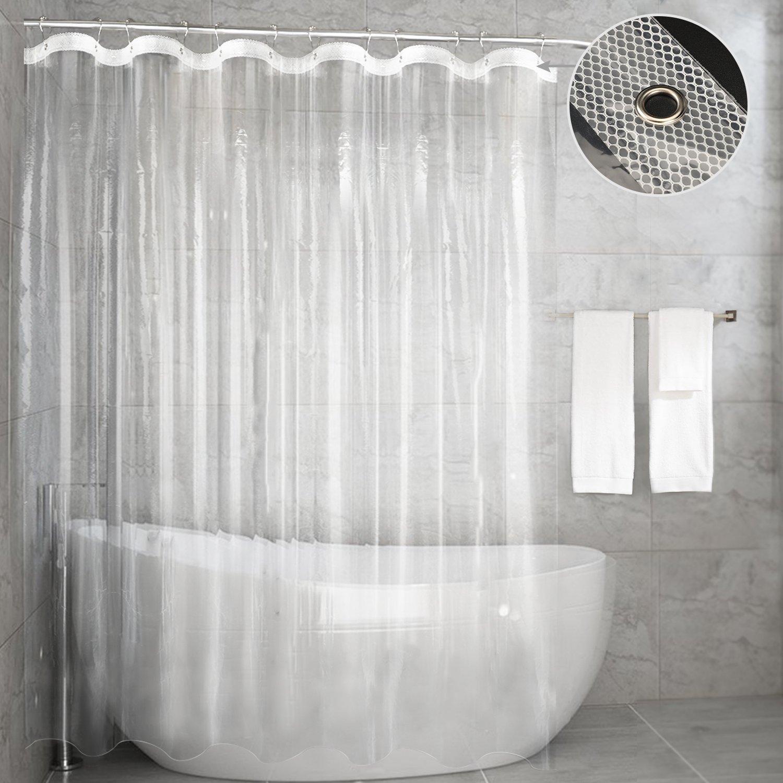 Amazon.com: Shower Curtain Liner, Bathroom Curtain Mold&Mildew ...