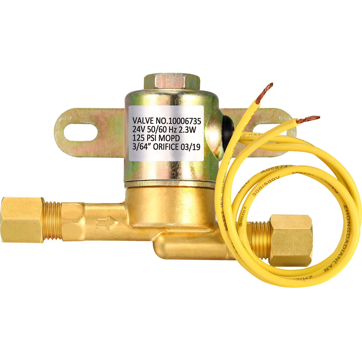 Humidifier Valve 4040 Solenoid Valve Brass Air Valve Compatible with Aprilaire Fit for 400 500 600 700 Humidifier 24 Volt by Mudder