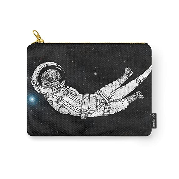 Pouch with artwork of floating otter in space