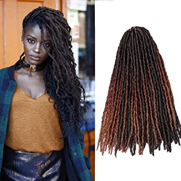 Amazon Com 6 Packs Soft Dread Locs Crochet Braids Synthetic Hair Extensions Gypsy Locs Kanekalon Fiber Hair Faux Locs Crochet Braids 18 Strands 1b Beauty