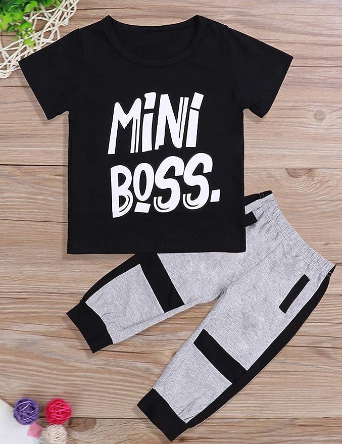 Xuefoo Ensemble t-Shirt /à Manches Courtes et Pantalon pour b/éb/é