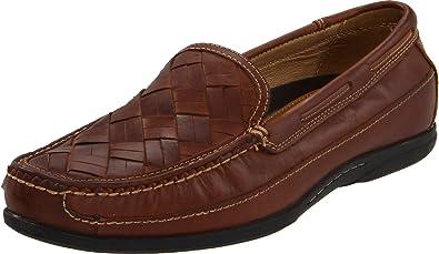 Johnston & Murphy Men's Trevitt Woven Venetian Loafer,Tan Full Grain ...