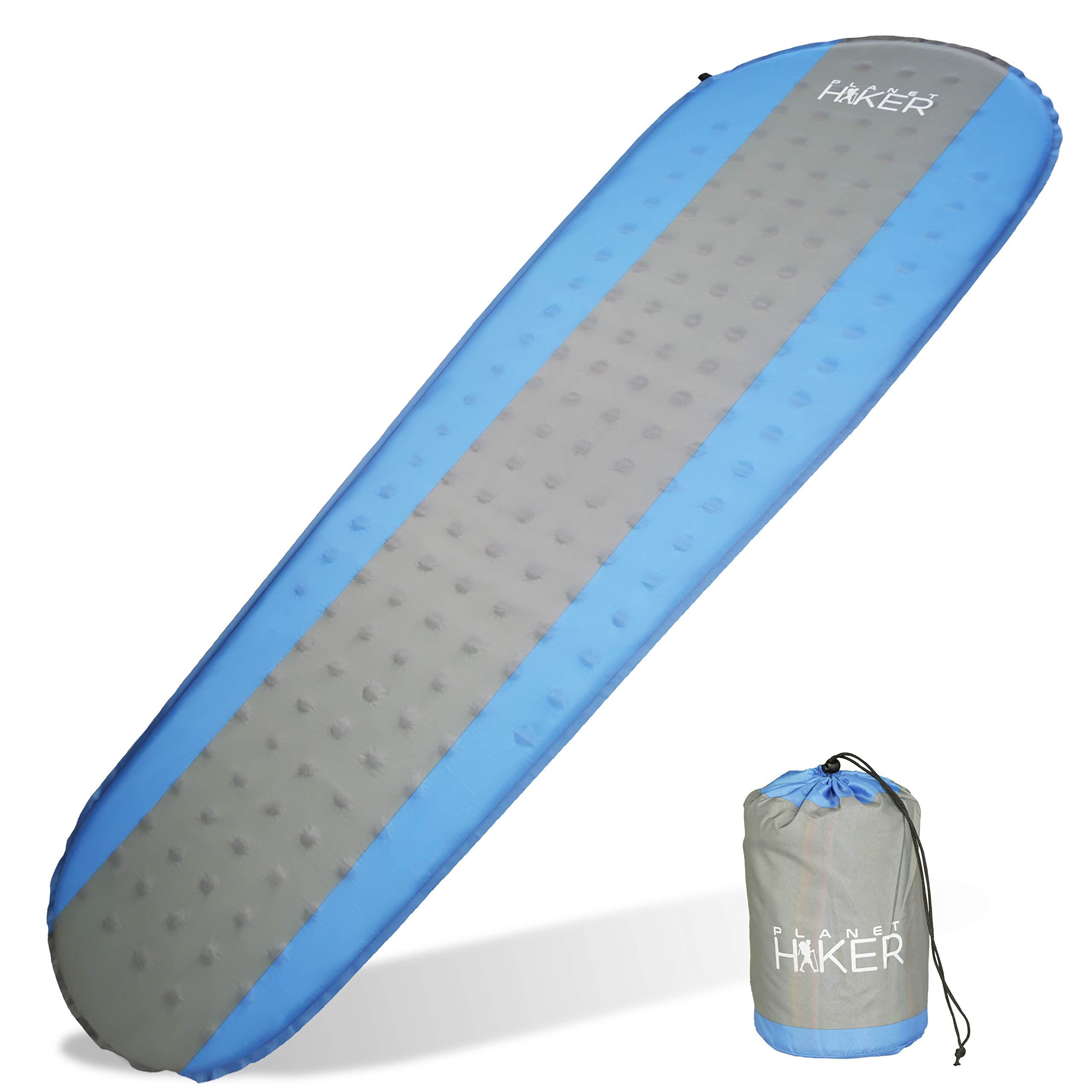 Colchón AutoHinchable de Camping Planet Hiker, Aislante Hinchable Ultraligero y Cómodo para Dormir en