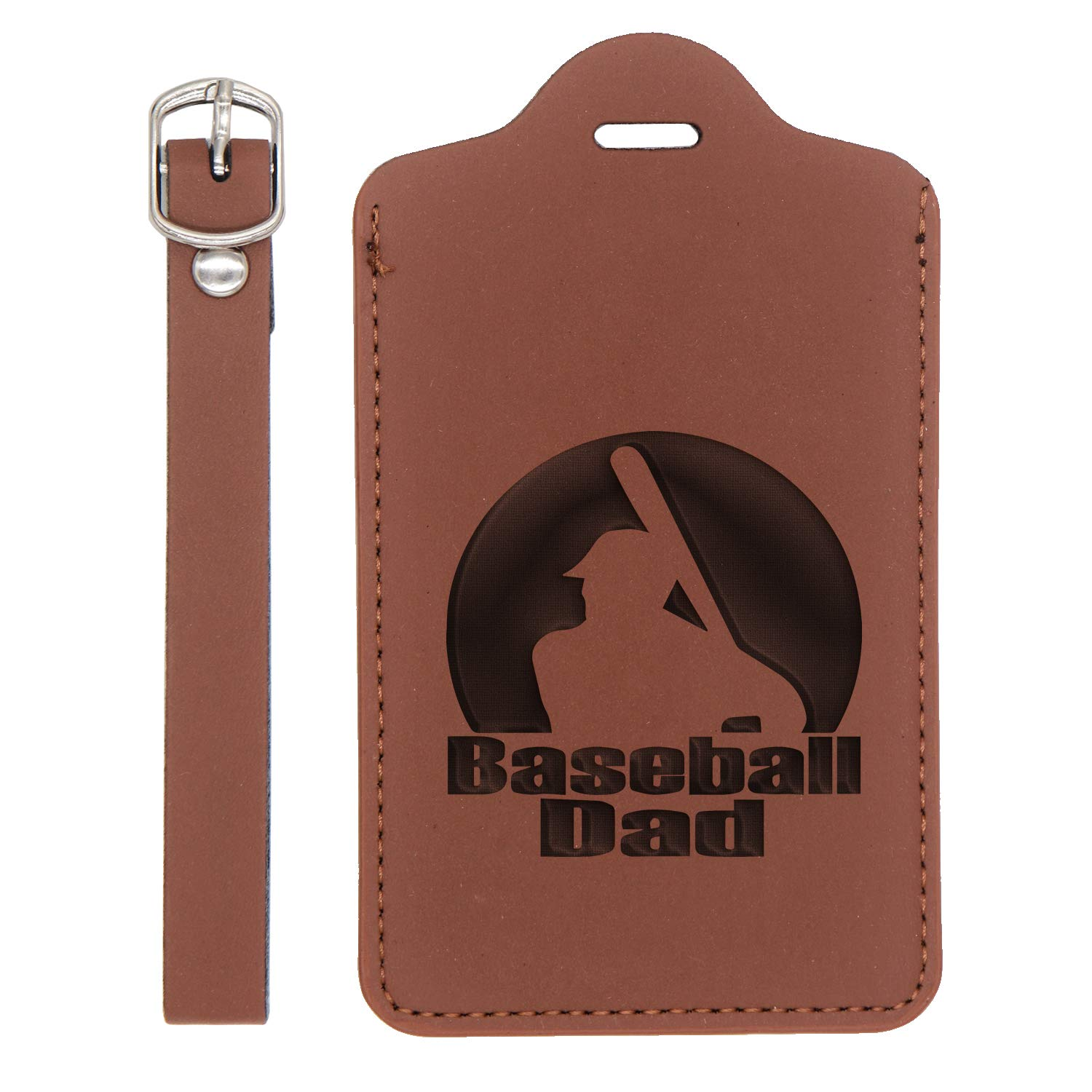 Handcrafted By Mastercraftsmen London Tan - Set Of 2 For Any Type Of Luggage Dad Engraved Synthetic Pu Leather Luggage Tag - United States Standard