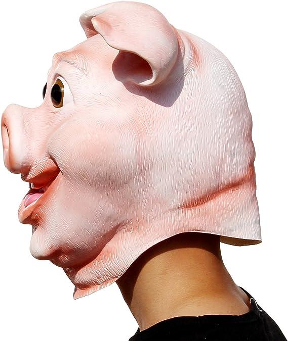 Masques Partycostume Mignon Latex Animal Masque Fete Dhalloween Drole Joyeux Masque De Cochon Jeux Et Jouets Hotelaomori Co Jp