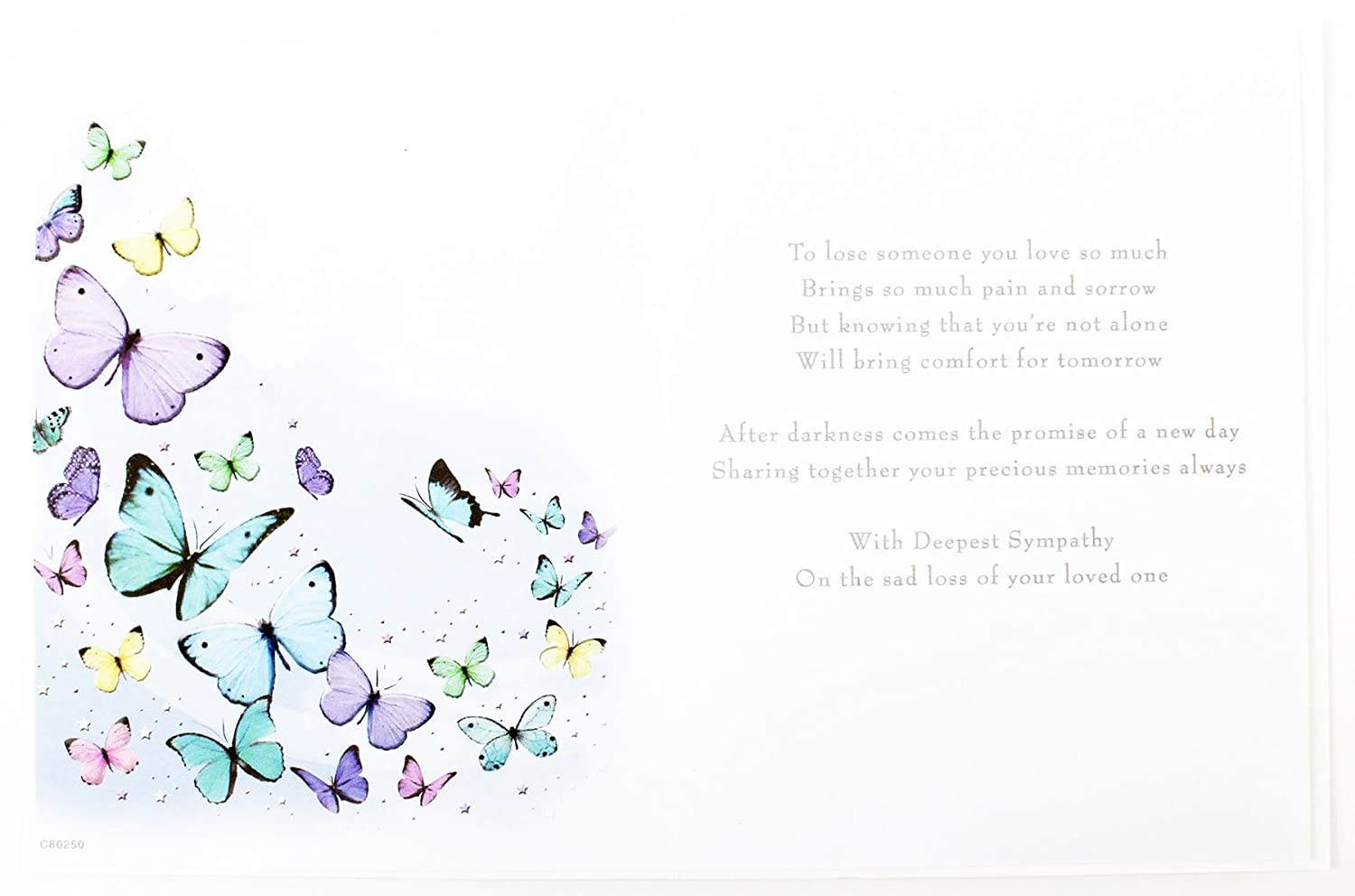 Deepest Sympathy Greeting Card Loss To Your Family Thinking Of You