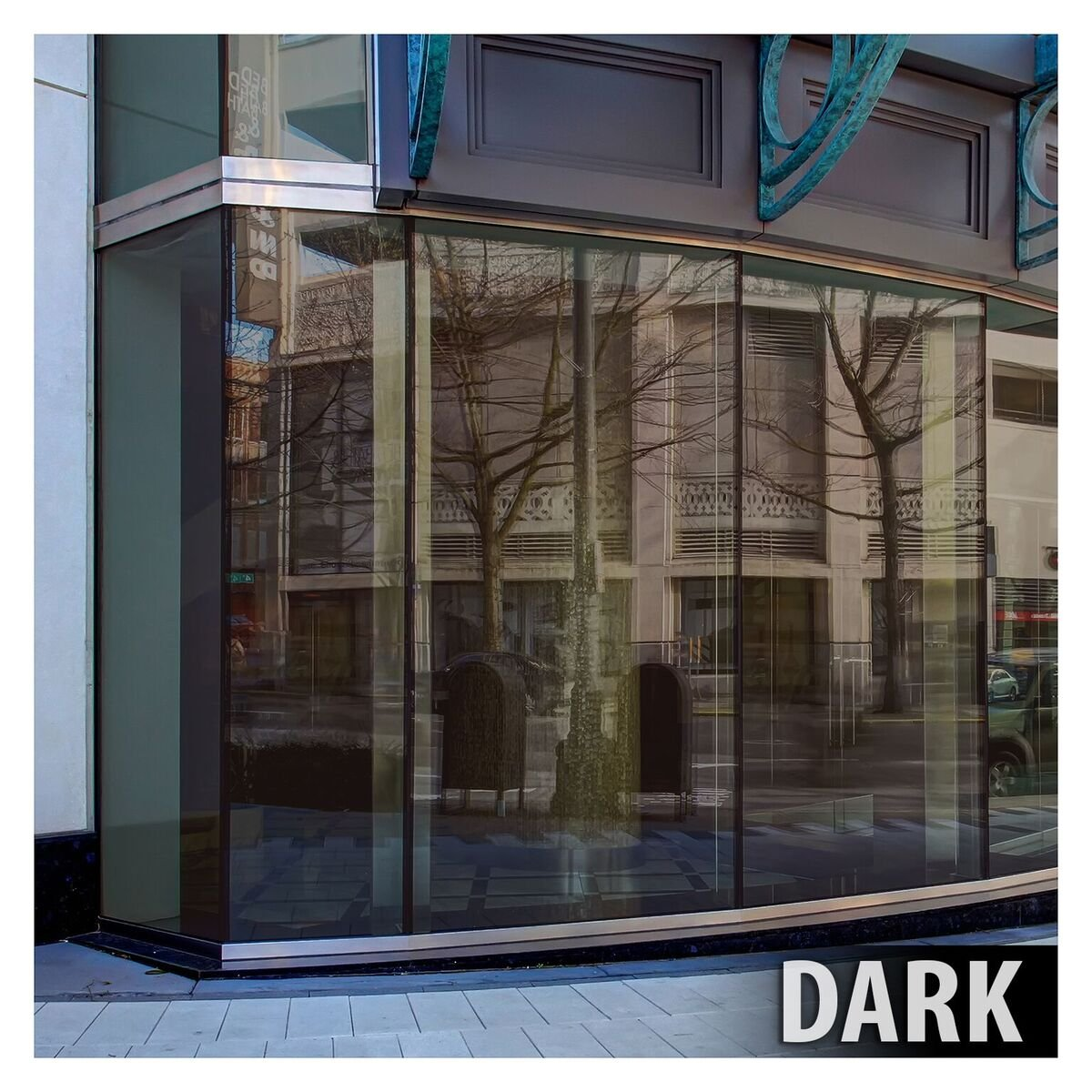 BDF PRBR Window Film Premium Color High Heat Control and Daytime Privacy Bronze (36in X 7ft) by Buydecorativefilm