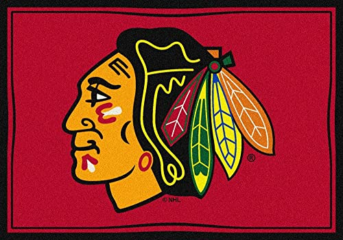 Milliken Chicago Blackhawks 3 10 x 5 4 Team Spirit Area Rug