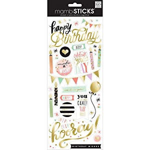 Specialty Stickers-Birthday - Yay!