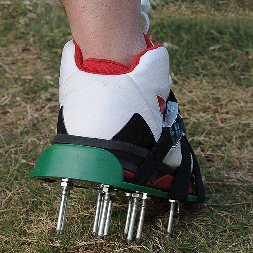 Lawn Aerator Shoes Easy to FIT /& Fully Assembled Aerator Sandal Simple Fit Gardening Shoes Comfort A One Size Fits All Lawn and Grass Aerator
