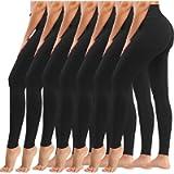 yeuG 7 Pack Black Leggings for Women-High Waist Leggings Tummy Control Yoga Pants