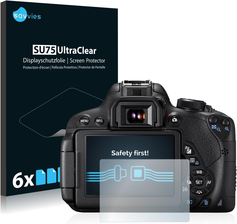 savvies Protector Pantalla Compatible con Canon EOS 700D (6 ...