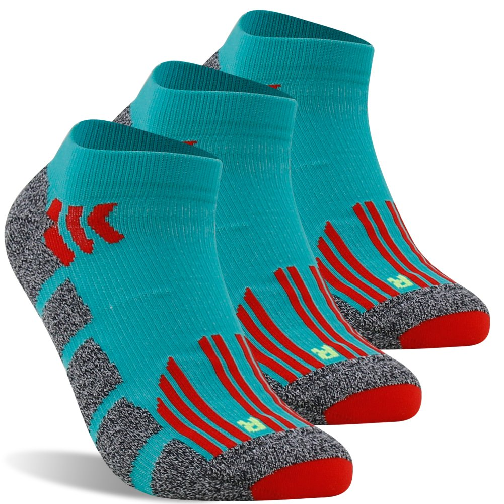 Compression Marathon Socks, LANDUNCIAGA Long Distance Trail Running Cycling Tennis Thick Padded Soft Cushion Socks Men,3 Pairs
