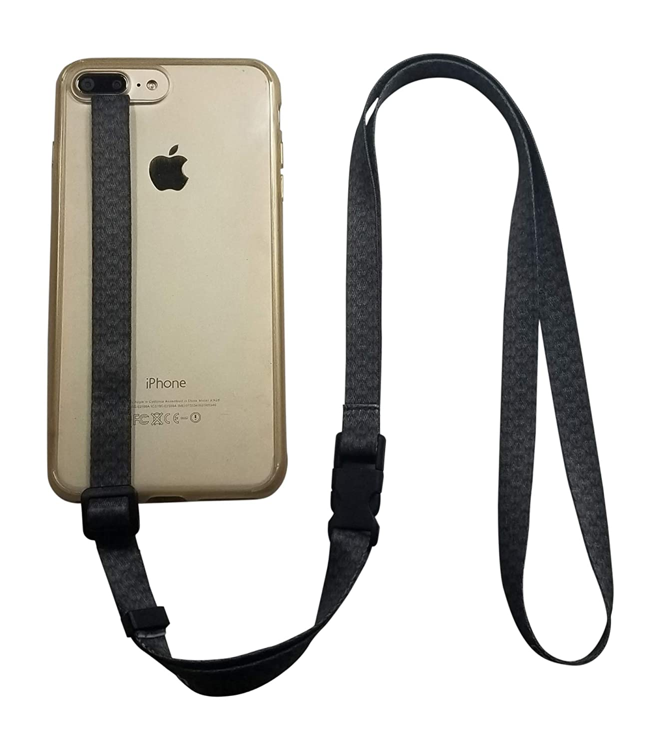 finest selection e64d2 17884 foneleash 3 in 1 Universal Cell Phone Lanyard Neck Wrist and Hand Strap  Tether (Spade)