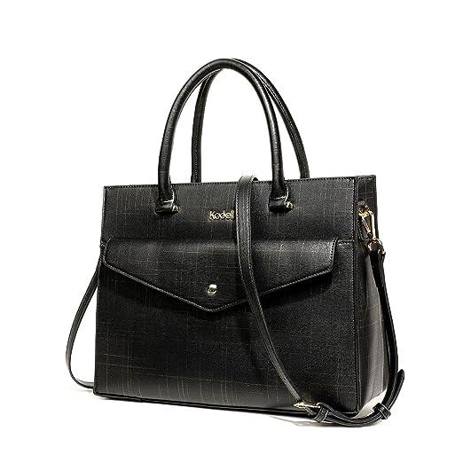 Kadell Women PU Leather Vintage Designer Handbag Top Handle Purse for  Ladies Shoulder Bag Black f7fe273022719