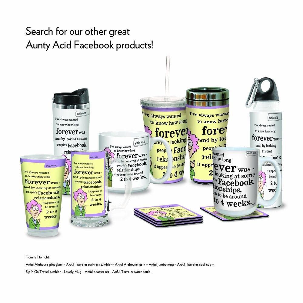 Facebook Tree Free Tree-Free Greetings PG02896 Aunty Acid Artful Alehouse Pint Glass 16-Ounce