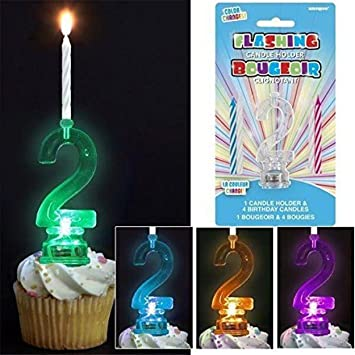 Amazoncom Unique Color Changing Flashing Number 2 Birthday