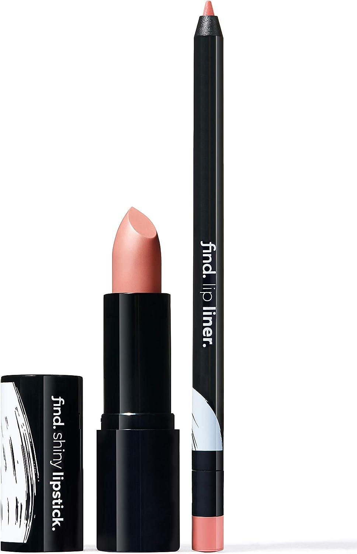 FIND - Warm Brownie (Barra de labios brillante n.2 + Perfilador de labios n.2)