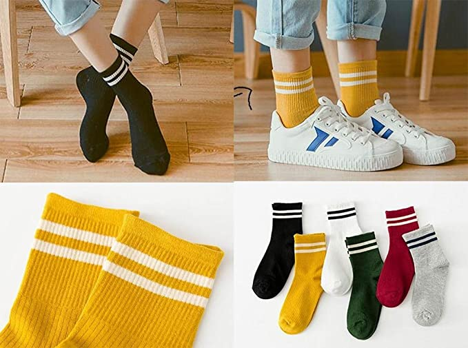 Amazon.com : [White] 3 Pairs Women Winter Socks Cozy Socks Schoolgirl Fashion Socks : Sports & Outdoors