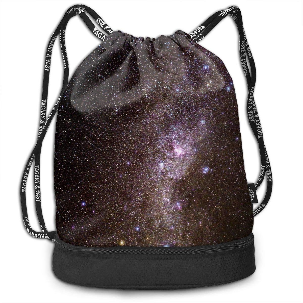 RAINNY Night Sky Scenery Large Drawstring Sport Backpack Sack Bag Sackpack