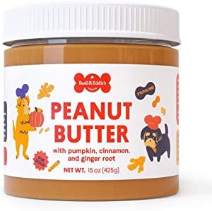 Peanut Butter for Dogs with Pumpkin & Spice - Delicious Dog Snack for Filling Bones - Long Lasting Treat or Meal Topper for Calming Dogs with Anxiety