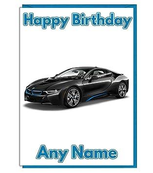 AK Giftshop Geburtstagskarte, Motiv: BMW Auto, Sportwagen Motiv
