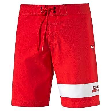 b4dd24c94d Puma Scuderia Ferrari Motorsport Men's Swim Beach Casual Board Shorts (XS,  Rosso Corsa): Amazon.co.uk: Clothing