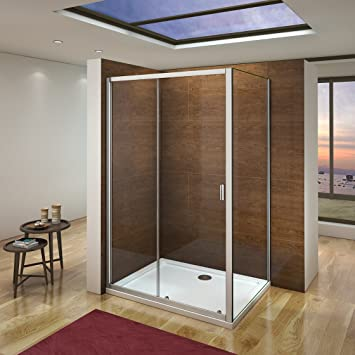 Aica Italia Box ducha puerta corredera marco de aluminio ...