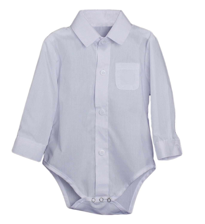 Amazon Baby Boys Poly Cotton Button Up White Dress Shirt