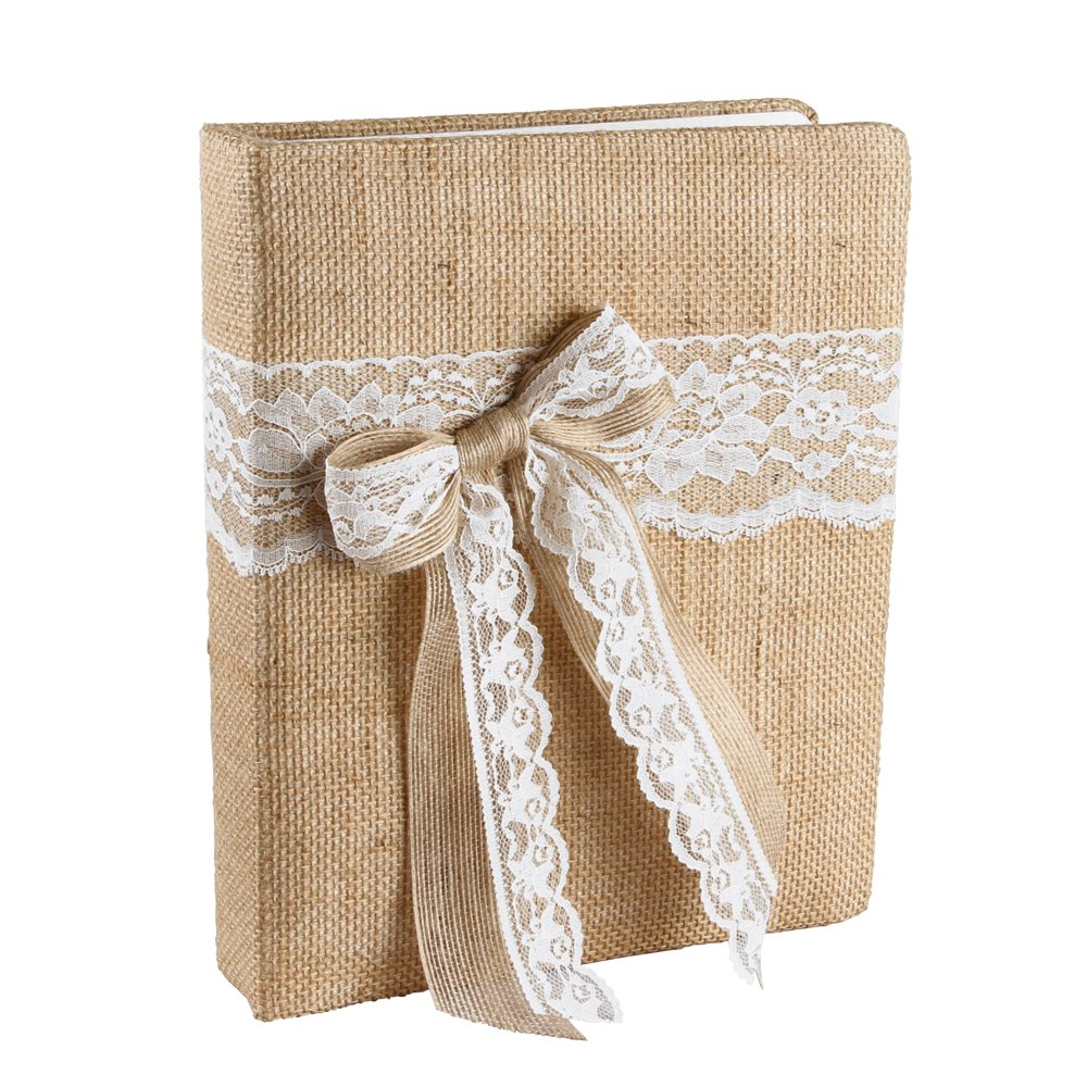 Ivy Lane Design Country Romance Wedding Memory Book, White by Ivy Lane Design