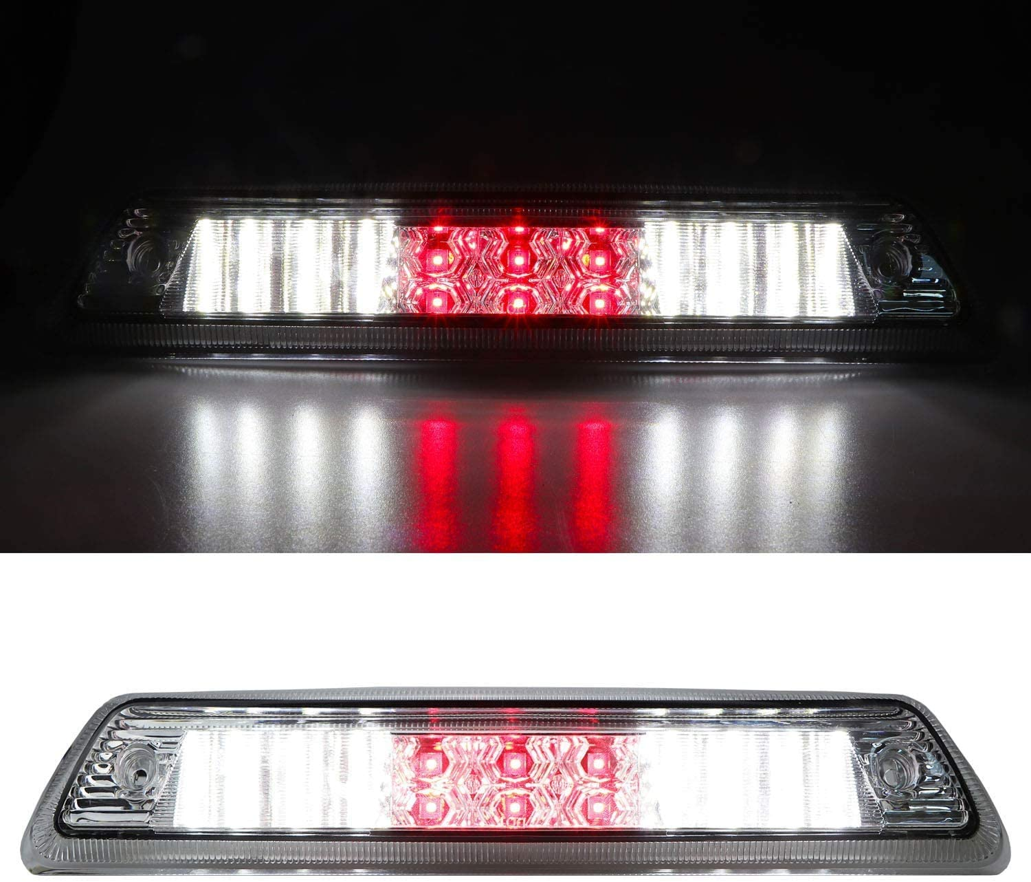 High Mount 3rd Stop Light Assemblies For 2009-2014 Ford F150 Third Center Cargo Reverse Rear LED Brake Light Bar Taillight Two Rows Smoke