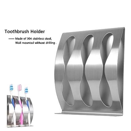 Porta cepillo de dientes Goannra de acero inoxidable (3 Hole)