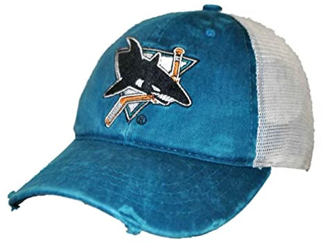 detailed look 81c20 16c25 Image Unavailable. Image not available for. Color  San Jose Sharks Retro  Brand Teal Worn Mesh Vintage Adjustable Snapback Hat Cap