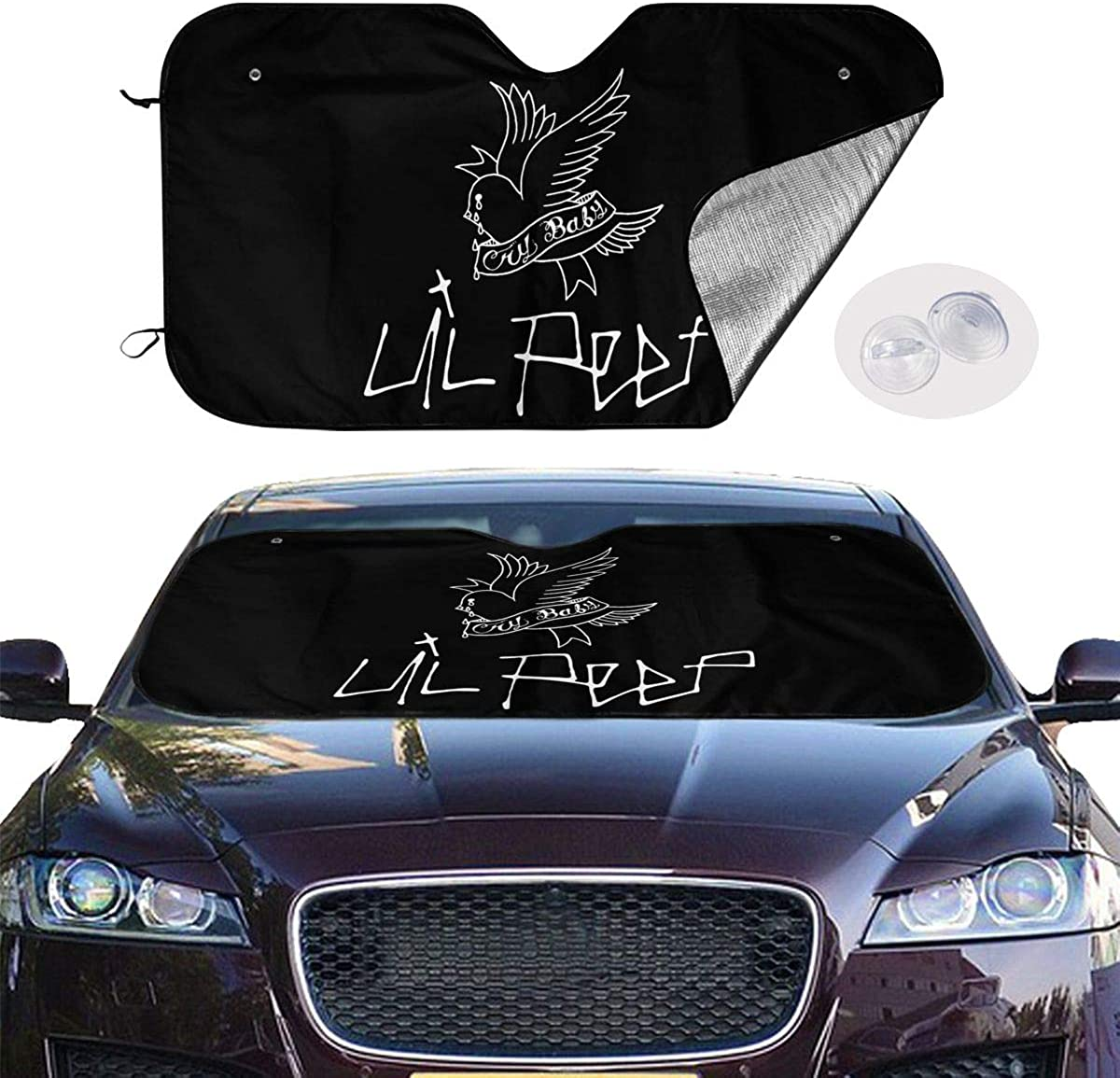 N//C Peep Lil Car Windshield Fit Car Sunshade for All Vehicles and Keep Your Vehicle Coold Keep Your Vehicle Cool