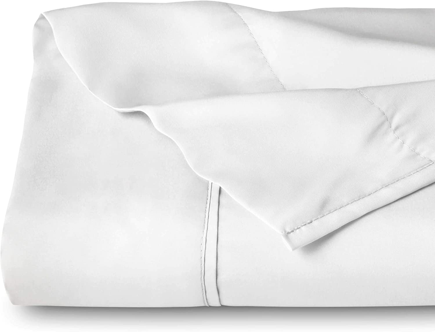 Flat Top Sheet Premium 1800 Ultra-Soft Microfiber Collection - Double Brushed, Hypoallergenic, Wrinkle Resistant, Easy Care (Queen - 1 Pack, White)