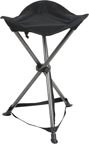 PORTAL Folding Tripod Camping Stool, Black