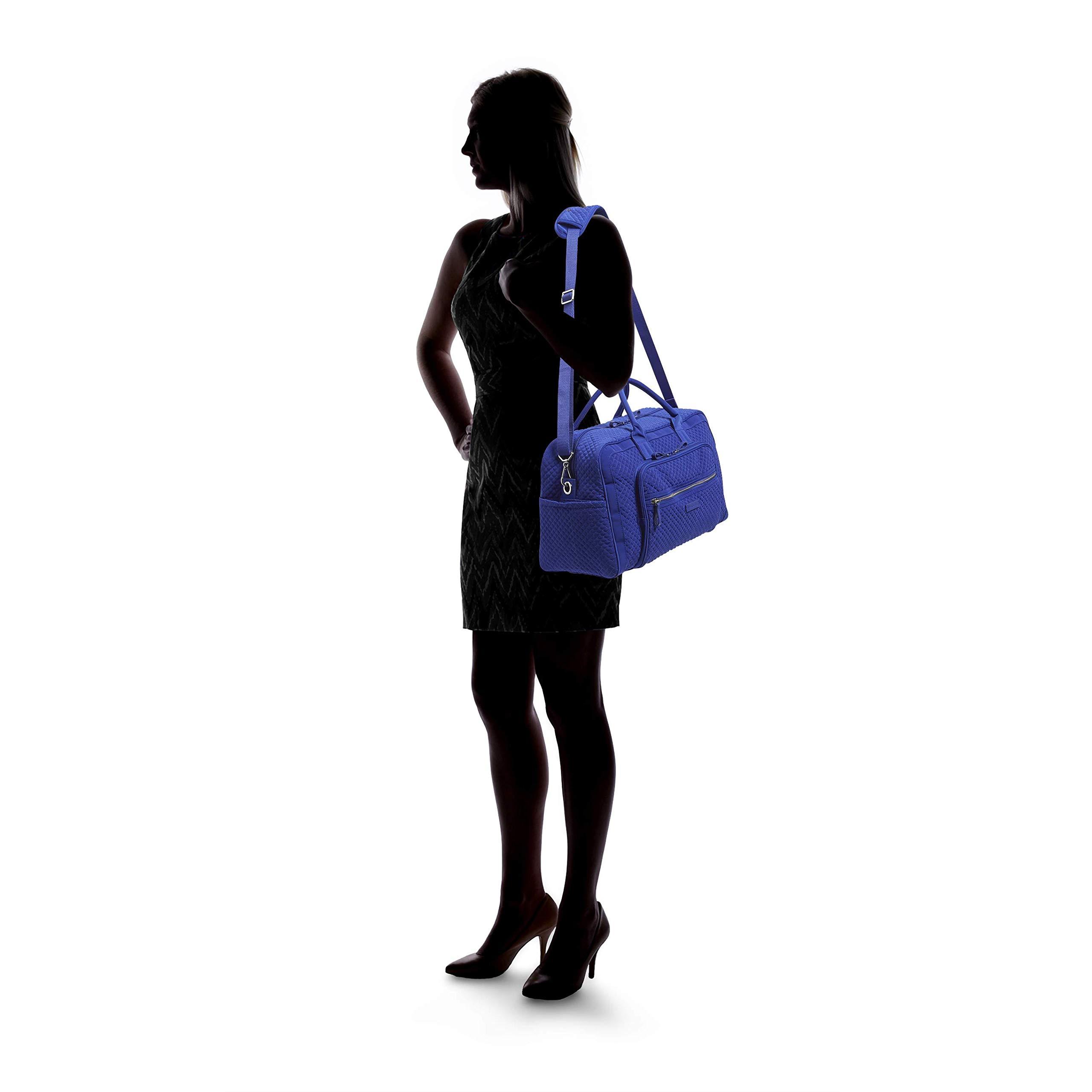 Vera Bradley Iconic Compact Weekender Travel Bag Vera,  gage Blue, One Size by Vera Bradley (Image #5)