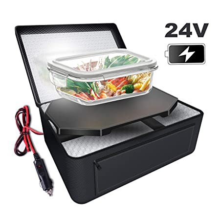 Triangle Power Personal Portable Oven, Electric Slow Cooker For Food,Mini Oven For Meals Reheat,Food Warmer with Lunch Bag For Car 24V