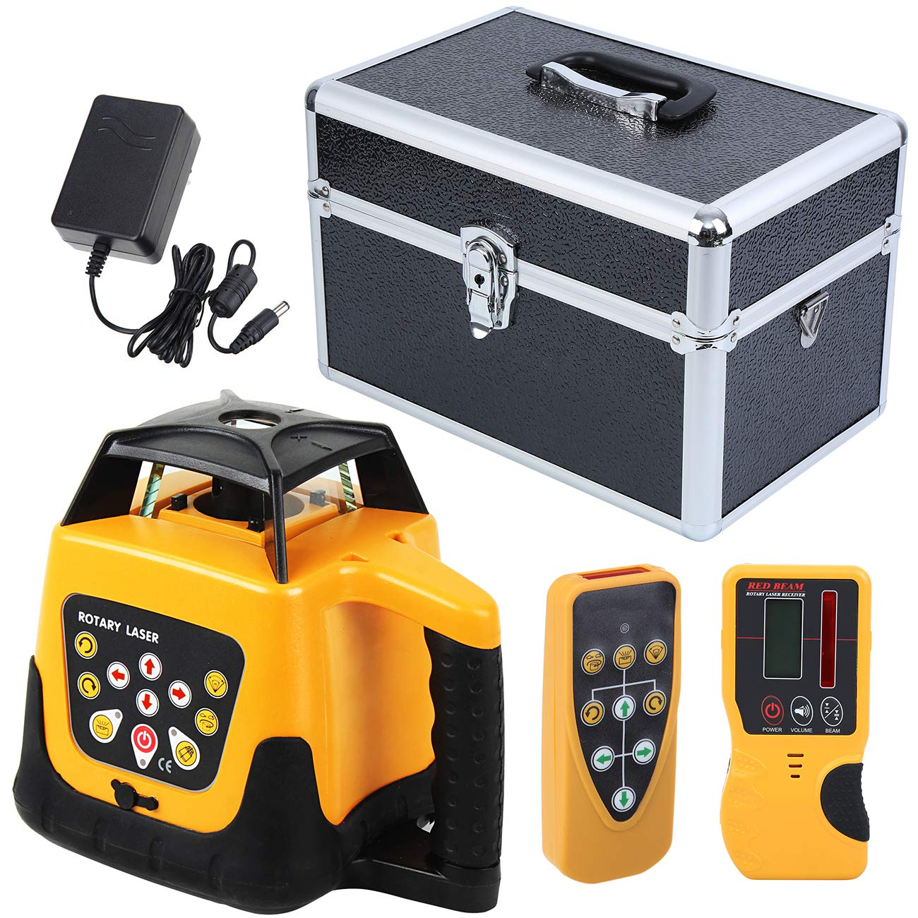 500M Automatic 360° Self-Leveling Rotary Rotating Red Laser Level Measuring Tool