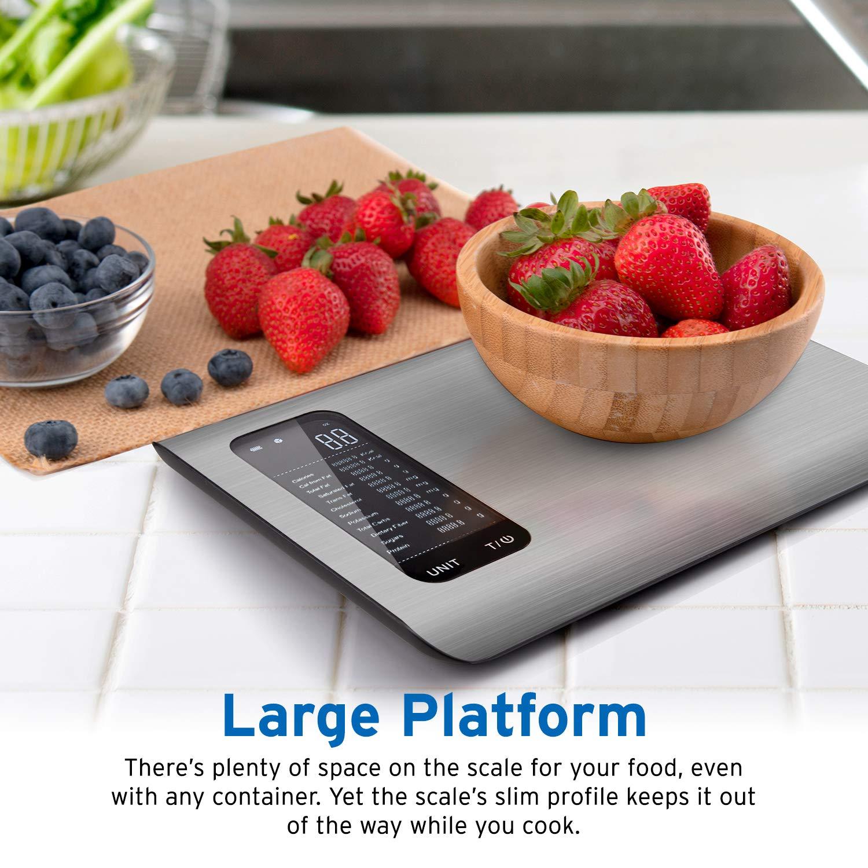 Etekcity ESN00 Nutrition Smart Calorías de Alimentos Cocina Báscula Nutritiva Digital con Control de Aplicación, Nutrients Facts Display y Diary Track, ...