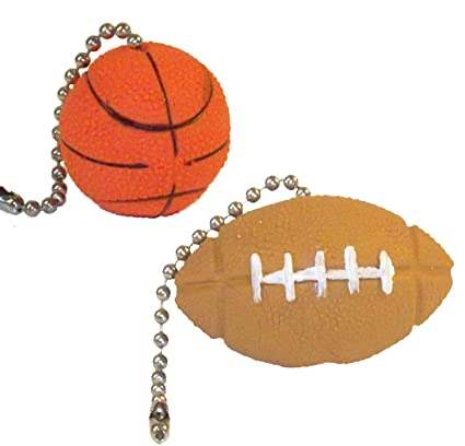 Sports ball ceiling fan pull chains basketball football amazon sports ball ceiling fan pull chains basketball football mozeypictures Gallery