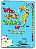 University Games BOX-01224 Who What Where Junior Mini Travel Game