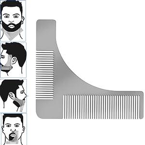 TPone barbe inoxydable style et modèle de conception outil de peigne pour la forme de la barbe parfaite