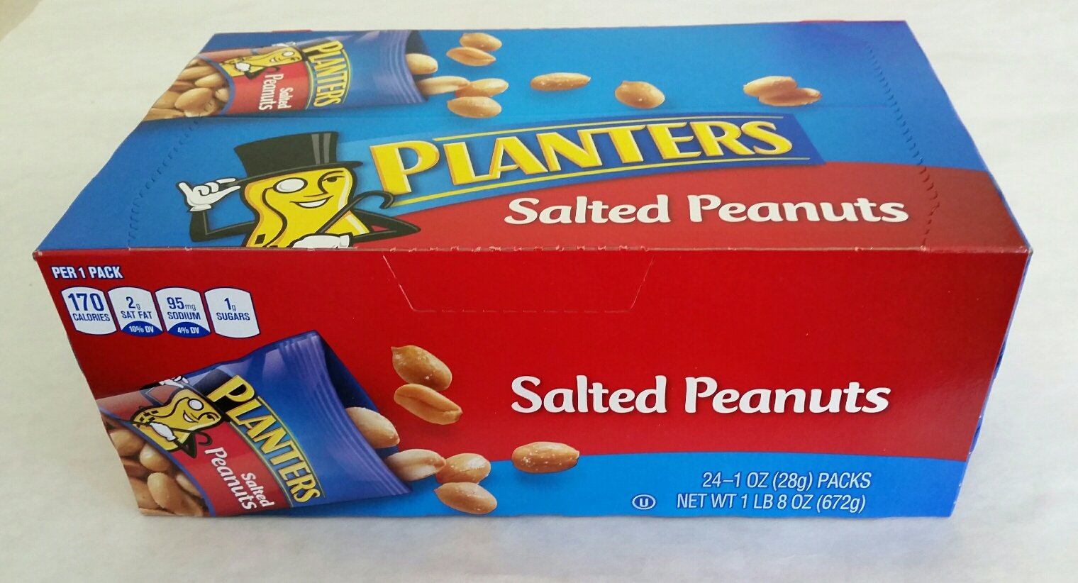 Planters Salted Peanuts 24/1 Oz Bags Healthy snack, Expertly roasted