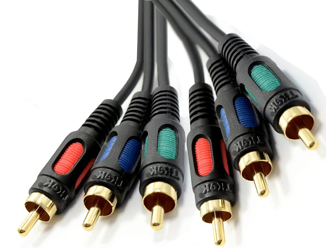 10m RGB Component Video HD Cable Lead YpbPr GOLD YUV, High Quality Cable with Gold plated Brass Ends, for Component Video connection TK9K®