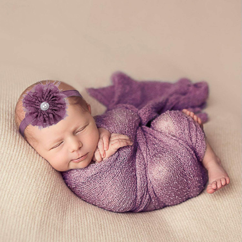 3 St/ücke Baby Fotoshooting Newborn Fotoshooting Baby Decke Haarband DIY Baby Shooting Accessoires Baby Teppich Knit Wrap f/ür Baby Fotografie Aniwon Newborn Wrap