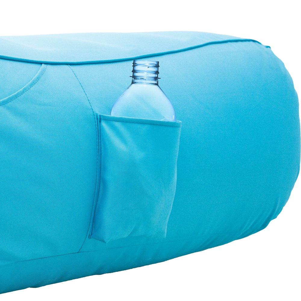 Amazon.com: Ove inflable piscina Flotador tumbona, Azul ...